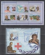 W709. Guinea - Bissau - MNH - Famous People - Pope - Mandela - Celebridades