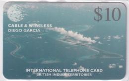 DIEGO GRCIA , DGA-R-09 .  AERIAL VIEW , ERROR (BRITISH INDIAN TERRITORES) , MINT ,  CN.# DG09-00001(first Card In Print) - Diego-Garcia