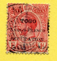Togo 1915 - 1d. Canc. LOME - Gold Coast Stamp  Overprinted Anglo-french Occupation - Other