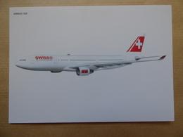 SWISS    AIRBUS A 330  AIRLINE ISSUE / CARTE COMPAGNIE - 1946-....: Era Moderna
