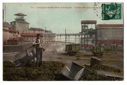 SAINT ETIENNE LES HOUILLERES LE PUITS MARS CARTE COULEUR ANIMEE - Saint Etienne