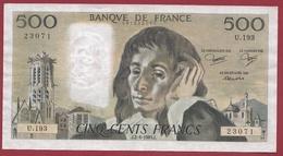 "500 Francs ""Pascal"" Du 02/06/1983.J----VF/SUP---ALPH.U.193 - 1962-1997 ''Francs''"