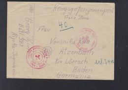 Yugoslavia POW Cover Rijeka  To Germany - 1945-1992 Socialist Federal Republic Of Yugoslavia