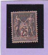 SAGE N° 97   - CACHET A DATE   ROUGE Des IMPRIMES  -  1602 - Centré - 1876-1898 Sage (Tipo II)