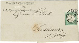 1872, Streifband 1/3 Gr. , Mi. 55.- Zu Niedrig  ,  #2637 - Briefe U. Dokumente