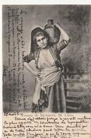 Liban / Femme Porteuse D'Eau De Becharreh Avec Timbre Bulgarie - Liban