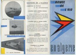 CARTE DEPLIANT ARMEE DE L'AIR EN ALGERIE VERS 1960 - Aviación