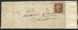 1842 GB 1d Red Imperf Maltese Cross, MX Kent - 1840-1901 (Regina Victoria)