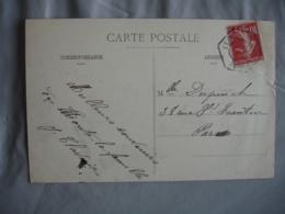Cachet D1d Leves Recette Auxilaire Obliteration Lettre - Poststempel (Briefe)