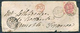 1871 GB London 3d Rose (Plate 6) Cover - Grenoble France Via Calais Paquebot, Paris A Lyon Train. - Storia Postale