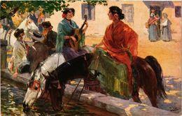 CPA V. CHECA Abreuvoir En Espagne. Salon De Paris (286880) - Paintings