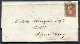 "1848 GB 1d Red Imperf ""K-C"" Wrapper - Shrewsbury - 1840-1901 (Regina Victoria)"