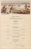 CMB-COMPAGNIE MARITIME BELGE-MENU PAKKETBOOT LEOPOLDVILLE-LES PECHERIES DANS LES RAPIDES-31 OCTOBRE 1937 - Menus