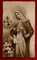 Image Pieuse Religieuse Holy Card Communion De Rolande - Mme Perrier - Ed ? 572 - Santini