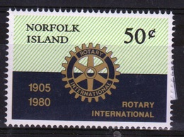 Norfolk Island Single 50c  Stamp To Celebrate Rotary International. - Norfolk Island
