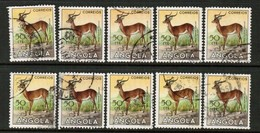 ANGOLA  Scott # 367 USED WHOLESALE LOT OF 10 (WH-339) - Angola