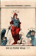 CPA PARIS La Commune De Paris En 1871 Croquis Rév. Par Pilotell (305288) - Ereignisse