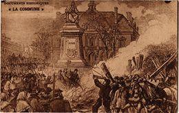 CPA PARIS La Commune Les Fédérés Brulant La Guillotine (305541) - Evènements