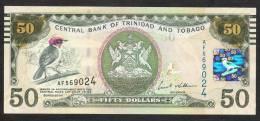 TRINIDAD AND TOBAGO  P50 50 DOLLARS  ND (2012), Prefix AF ,  UNC. - Trinidad & Tobago