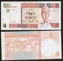 Cuba 3 Pesos 2017 Pick FX147 UNC - Cuba