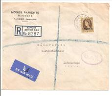 Tangier Marocco R-Cover By Airmail To Ludenscheid Deutschland-O.A.T. 1955 - Morocco Agencies / Tangier (...-1958)