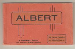CPA 80 Somme - Albert - Carnet Complet De 20 CPA - Edition R. GROSSEL Libraire à Albert - Albert