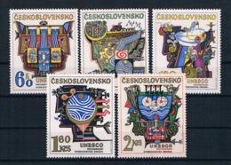 Tschechoslowakei/CSSR 1974 Unesco Mi.Nr. 2195/99 Kpl. Satz ** - Ongebruikt