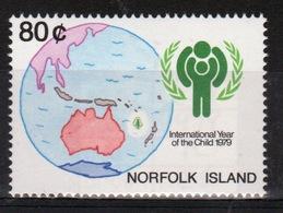 Norfolk Island 1979 Single 80c  Stamp To Celebrate Year Of The Child. - Norfolk Island