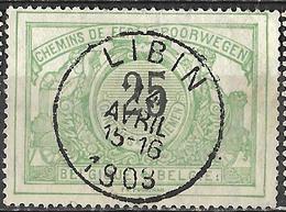C0.809: LIBIN: Poststempel: Type E11:N°TR18 - Bahnwesen