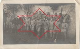 Photo Janvier 1916 BURTHECOURT-AUX-CHENES (près Nancy) - Le 1er Peloton Du 6ème Escadron De Dragon (A216, Ww1, Wk 1) - War 1914-18