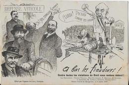 """NARBONNE MONTPELLIER ( Défense Viticole) : Maison D'arrêt  Et Ses 8 Prisonniers   Nommés ' Caricature""""6 Juillet 1907 - Narbonne"""