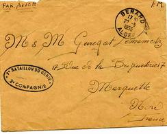 BERARD (Alger) -  Lettre En Franchise Militaire - 1956 - Algérie (1924-1962)