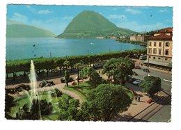 VW Karmann Ghia, Tramway, à Lugano - Voitures De Tourisme