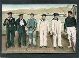 CPA - La Vie Du Marin - Les Différentes Tenues à Bord - Guerre