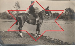 Photo Juin 1915 Ferme De BEAULIEU à MARAINVILLER (Croismare) - Le Lt Du Parc, Dragon (A216, Ww1, Wk 1) - Guerra 1914-18