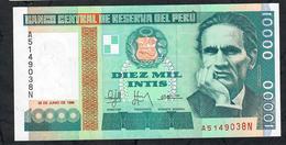PERU   P140 10.000 INTIS 1988  Printer :IPS Roma      UNC. - Perú