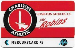 UK (Paytelco) - Football Clubs - Charlton Athletic Logo - 3PFLY - 5.900ex, Used - Reino Unido