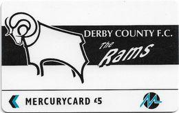 UK (Paytelco) - Football Clubs - Derby County Logo - 3PFLT - 5.900ex, Used - Ver. Königreich