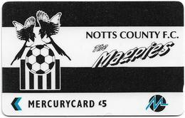 UK (Paytelco) - Football Clubs - Notts County Logo - 4PFLA, 5.900ex, Used - Ver. Königreich