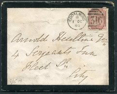1880 Godalming 316 Duplex, Mourning Cover + Westbrook Letter - Oswald Heseltine, London EC. - Storia Postale