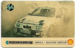 UK (Paytelco) - Shell - Rally Car (With Bar Code) - PYSH008B - 3PSHC - 15.205ex, Used - Reino Unido
