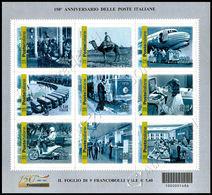 Italia / Italy 2012: Foglietto 150 Anni Poste / Italian Postal Service 150th Anniversary Sheetlet ** - Poste