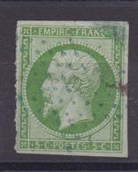 TIMBRE FRANCE - N° 12. Cote : 90€. - 1853-1860 Napoleon III