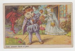 AC258 - Illustration CHAT - CAT - KATZ - Humanisé - Salut, Demeure Chaste Et Pure - Chats