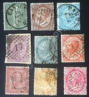 Italia Regno 1863 - Emissione De La Rue - 9 Francobolli Usati U 14/22 - Italien