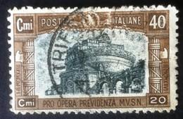 Italia Regno 1926 - Pro Opera Di Previdenza M.V.S.N. - 40c Usato - U206 - Italien