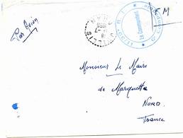 OUILLIS (Algerie) - Bureau Auxiliaire - Lettre En Franchise Militaire -1956 - Algérie (1924-1962)