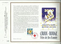 N° 1475 DU CATALOGUE CEF . CROIX ROUGE FRANCAISE . JOYEUX NOËL . BONNE ANNEE . 10 NOVEMBRE 1999 . PARIS . - FDC