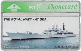 UK - BT - L&G - BTG-244 - Royal Navy At Sea, HMS Gloucester - 402E - 5Units, 600ex, Mint - BT Edición General