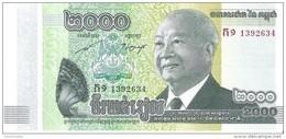 Cambodia - Pick 64 - 2000 Riels 2013 - Unc - Cambogia